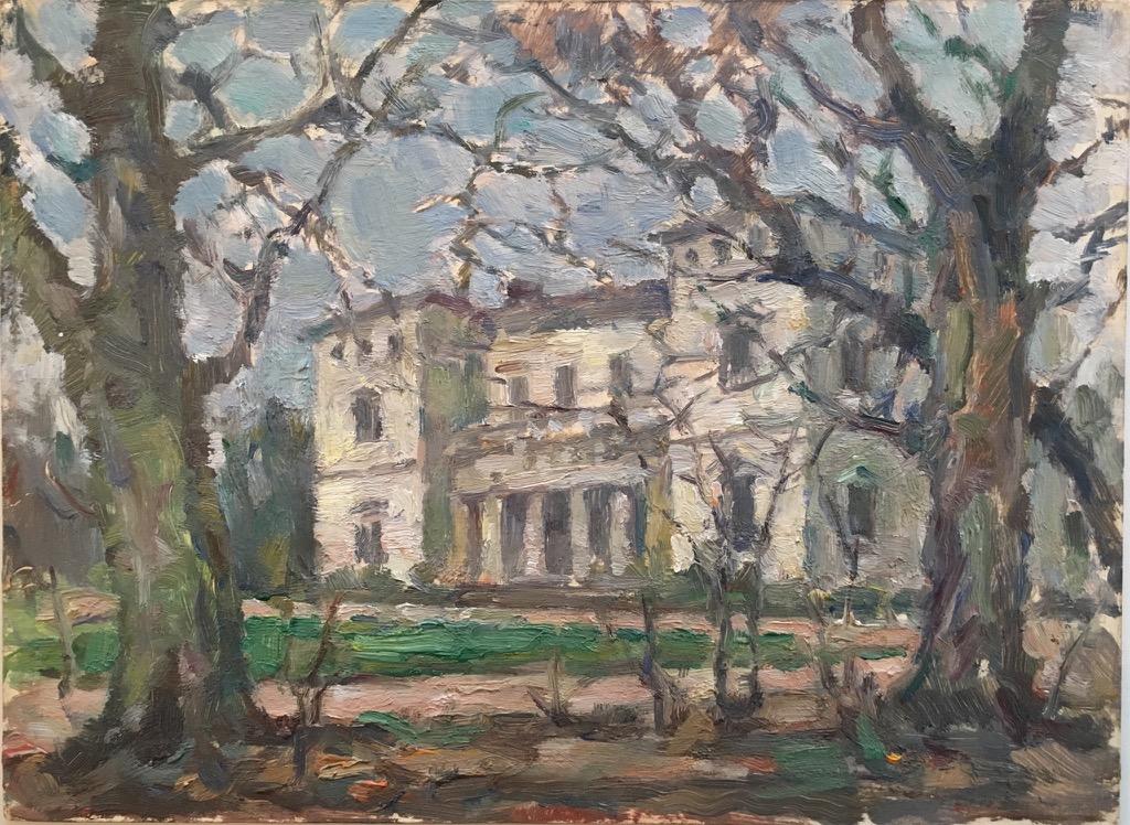 GroBartig Unsigniertes Gemälde   Weise Villa Im Baur´s Park   Blankenese .